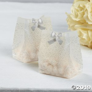 Frosted Silver Wedding Treat Bags (48 Piece(s))