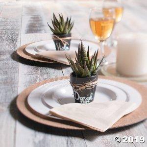 Mini Ceramic Chalkboard Flower Pots (Per Dozen)