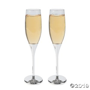 Floating Crystals Wedding Champagne Flute (1 Set(s))