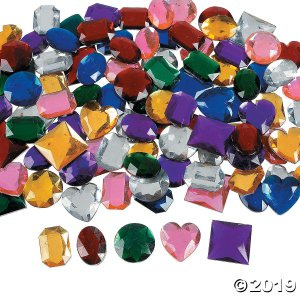 Jumbo Self-Adhesive Jewels (100 Piece(s))