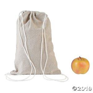 DIY Medium Natural Canvas Drawstring Bags - 12 pcs. (Per Dozen)