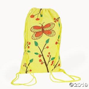 Medium Neon Canvas Drawstring Bags (Per Dozen)