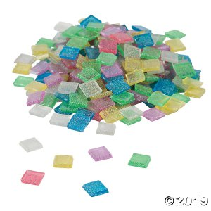 Glitter Mosaic Squares (700 Piece(s))