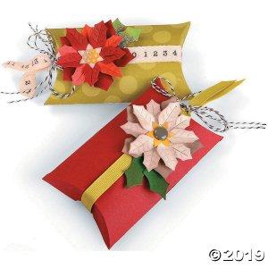 Jen Long Sizzix® Thinlits Poinsettias & Pillow Box Cutting Dies (1 Set(s))