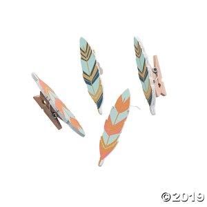 Tribal Baby Shower Clothespins (Per Dozen)