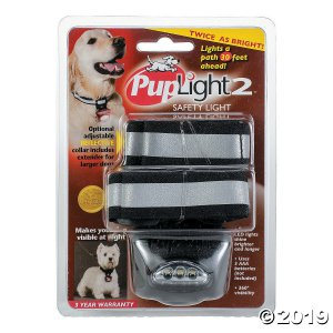 Bright Safety Flashlight Collar-Black (1 Piece(s))