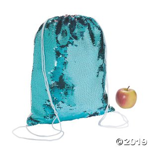 Reversible Sequin Two-Tone Drawstring Bag (1 Piece(s))