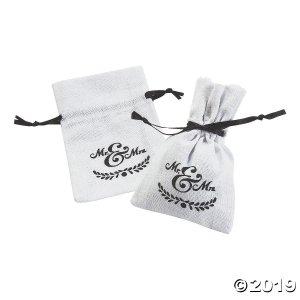 Mini Mr. & Mrs. Drawstring Treat Bags (Per Dozen)