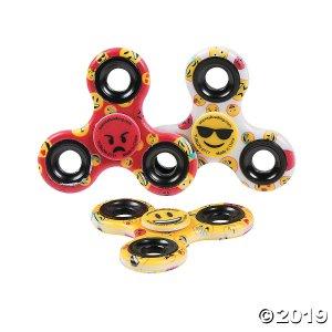 Smile Face Emoji Fidget Spinners (Per Dozen)