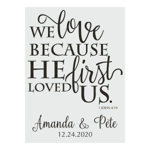 Personalized He Loved Us First Wedding Cling (1 Piece(s))