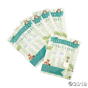 Woodland Baby Shower Pickle Cards (24 Piece(s))