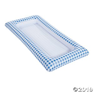 Blue Gingham Inflatable Buffet Cooler (1 Piece(s))