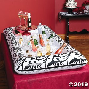 Black & White Inflatable Wedding Buffet Cooler (1 Piece(s))