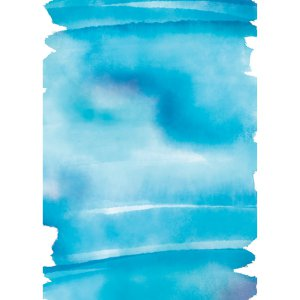 Personalized Blue Watercolor Wedding Invitations (25 Piece(s))