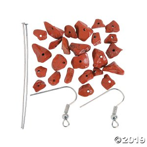 Red Stone Earrings Craft Kit (3 Pair)