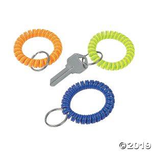 Neon Coil Keychains (Per Dozen)