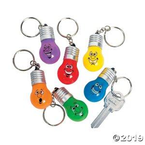 Holiday Lightbulb Light-Up Keychains (Per Dozen)