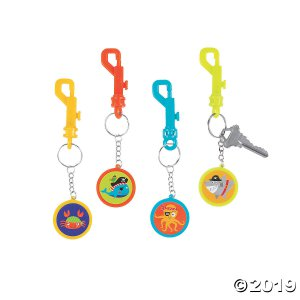 Pirate Animal Backpack Clip Keychains (Per Dozen)