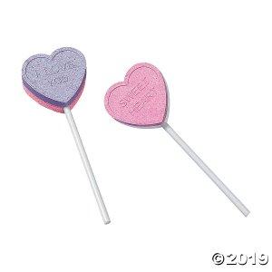 Valentine Conversation Heart Lollipops (46 Piece(s))