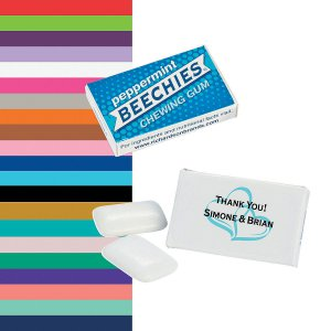 Personalized Wedding Beechies® Gum (100 Piece(s))