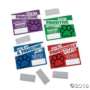 Paw Print Scratch Reward Cards (48 Piece(s))