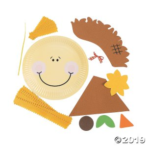 Paper Plate Scarecrow Craft Kit (Makes 12)