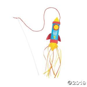 Praise Him Rocket Craft Tube Craft Kit (Makes 12)