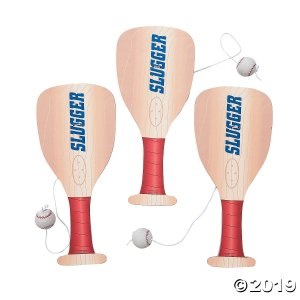 Baseball Paddle Ball Games (Per Dozen)