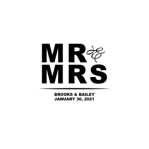 Personalized Mr & Mrs Treat Bags (50 Piece(s))
