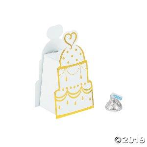 Gold Wedding Cake Favor Boxes (24 Piece(s))