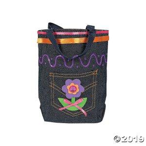 Mini Denim Jean Pocket Tote Bags (Per Dozen)