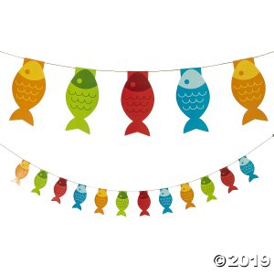 Little Fisherman Fish Paper Pennant Banner (1 Piece(s))