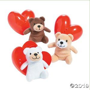 Valentine Stuffed Bear-Filled Hearts (Per Dozen)