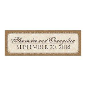 Personalized Medium Rustic Wedding Vinyl Banner (1 Piece(s))