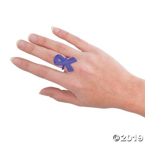 Purple Awareness Ribbon Rings (Per Dozen)