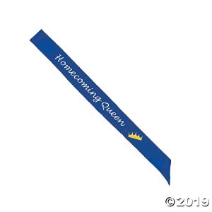 Blue Homecoming Queen Sash (1 Piece(s))