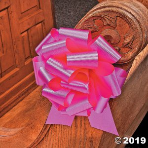 Hot Pink Wedding Pull Bows (Per Dozen)