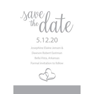 Personalized Two Hearts Save the Date Cards (25 Piece(s))