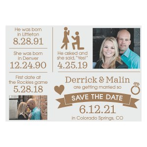 Custom Photo Timeline Save the Date Cards (25 Piece(s))