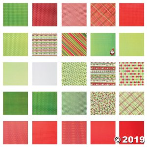 Bright Christmas Scrapbook Paper Pack (100 Sheet(s))