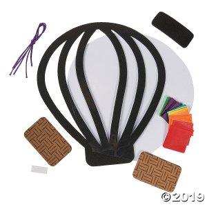 Hot Air Balloon Tissue Paper Craft Kit (Makes 12)