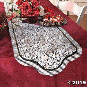Black & White Wedding Table Runner (1 Piece(s))