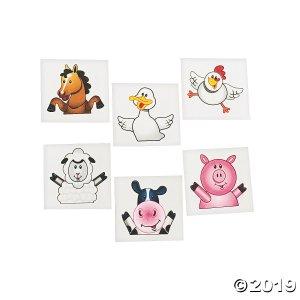 Farm Party Tattoos (72 Piece(s))