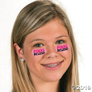 Pink Awareness Ribbon Face Tattoos (6 Sheet(s))