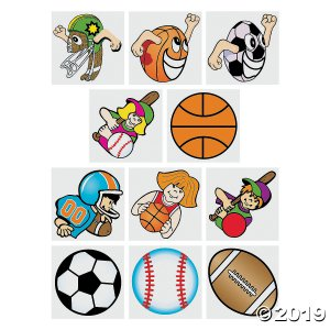 Sports Tattoos (72 Piece(s))