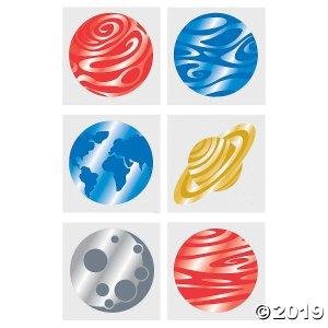Foil Planet Tattoo Assortment (72 Piece(s))
