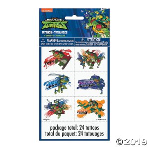 Rise of the Teenage Mutant Ninja Turtles™ Temporary Tattoos (4 Sheet(s))