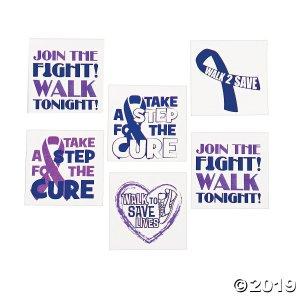 Purple Awareness Ribbon Tattoos (72 Piece(s))