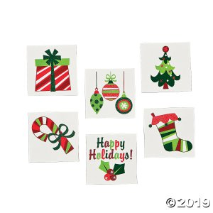 Fun Christmas Glitter Tattoos (72 Piece(s))