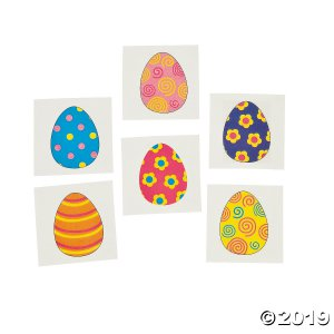 Egg-Streme Easter Tattoos (72 Piece(s))